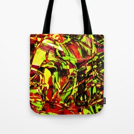 Fluid Painting 2 (Yellow Version) Tote Bag