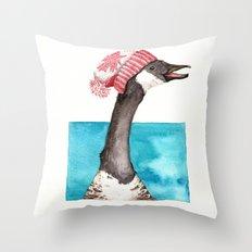 Canada Goose in a Canada Toque Throw Pillow