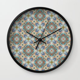 Doodle Tiled Abstract Print Wall Clock