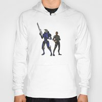 garrus Hoodies featuring Shepard and Garrus by Joe Byrne