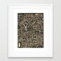 sandman Framed Art Prints featuring Sandman by Christina Grace Vergona