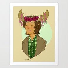 Sam is a Pretty Pretty Moose Art Print