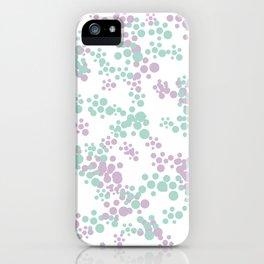 Mint and lavender color splash iPhone Case