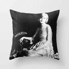 1920s Silent Film Actress Portrait: Sarah-Blanche Sweet Throw Pillow