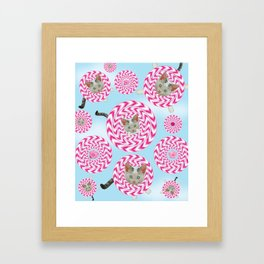 Krazy Kitty Spins Framed Art Print