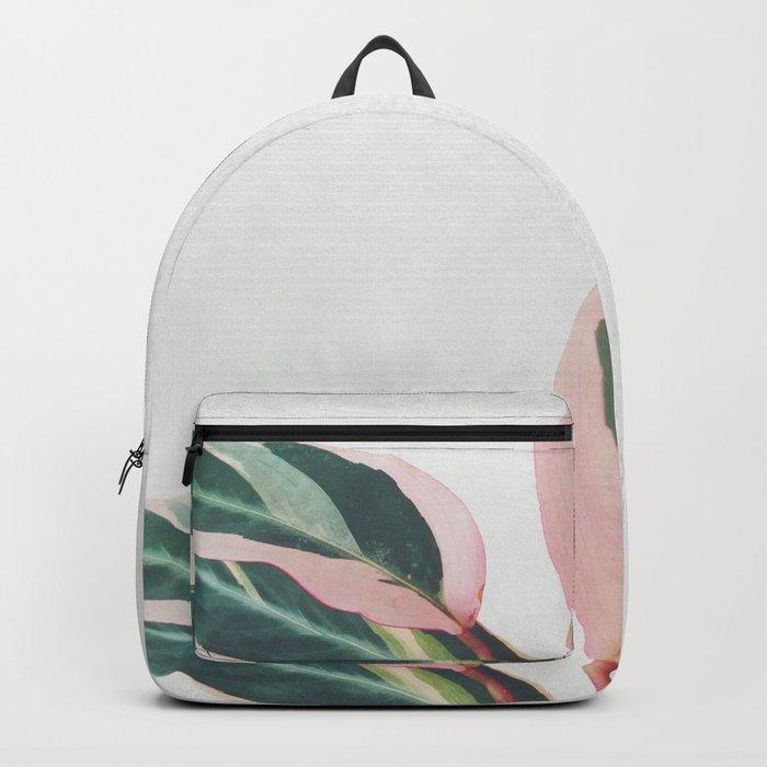 Pink Leaves II Rucksack