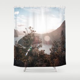 View of the Lago Lacar Shower Curtain