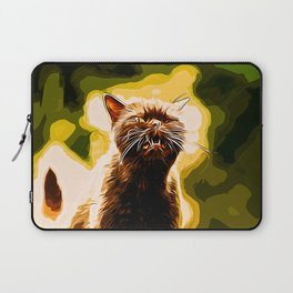 british shorthair cat ready to attack vector art Laptop Sleeve