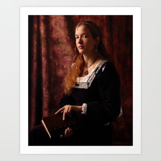 The lady of Schalott Art Print