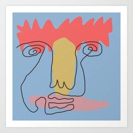 bloc face Art Print