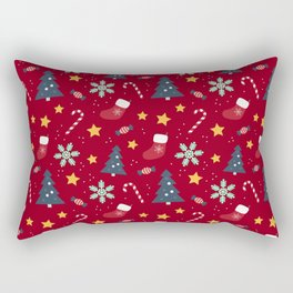 It's Christmas Time Colourful Pattern IV Rectangular Pillow