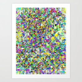 Da People Glitch Pattern Art Print