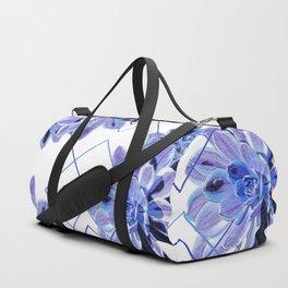 Geometric Echeveria Flowers Design Duffle Bag