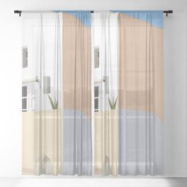 Postcards from Greece Sheer Curtain