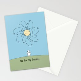 You are my sunshine - Blue Stationery Cards