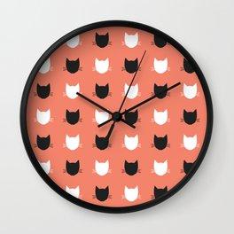 Cat Pattern 02 Wall Clock