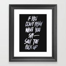 Mean Framed Art Print