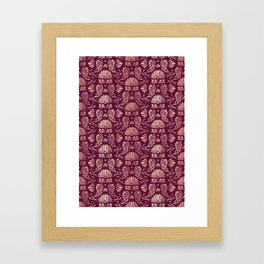 Classic Floral Pattern Framed Art Print