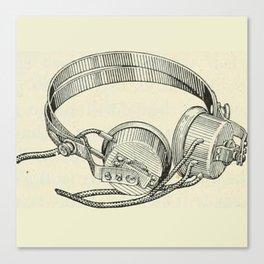 Old school headphones. Canvas Print