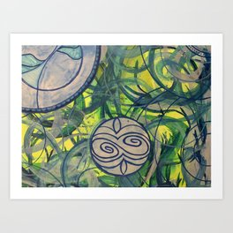Earths Circles Art Print