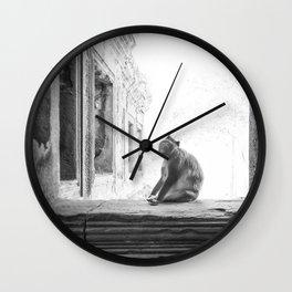 Sitting Monkey Wall Clock