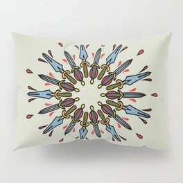 Mandala of daggers Pillow Sham
