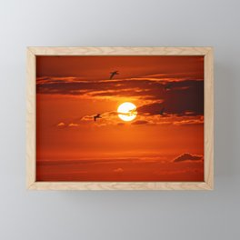 Red Sunset2 False Bay Framed Mini Art Print
