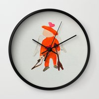 toddler Wall Clocks featuring February St. Valentine's Day Sweetheart Toddler by PodArtist