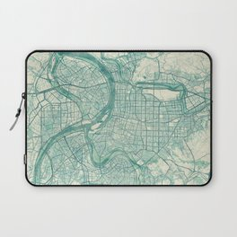 Taipei Map Blue Vintage Laptop Sleeve
