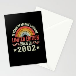 18 Years Birthday Limited Edition Born 2002 Stationery Cards
