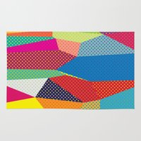 dots Area & Throw Rugs featuring Dots by Joe Van Wetering