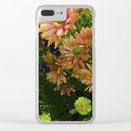 POINT CLEAR FLOWERS Clear iPhone Case