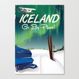 Iceland vintage travel poster Canvas Print