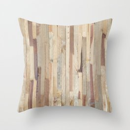 Wood Planks Throw Pillow