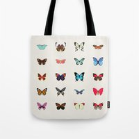 butterflies Tote Bags featuring Butterflies by Dorothy Leigh