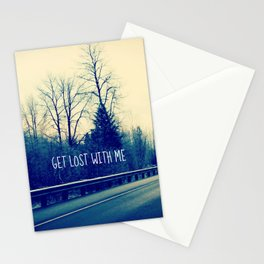 GET LOST on HWY 101 Stationery Cards