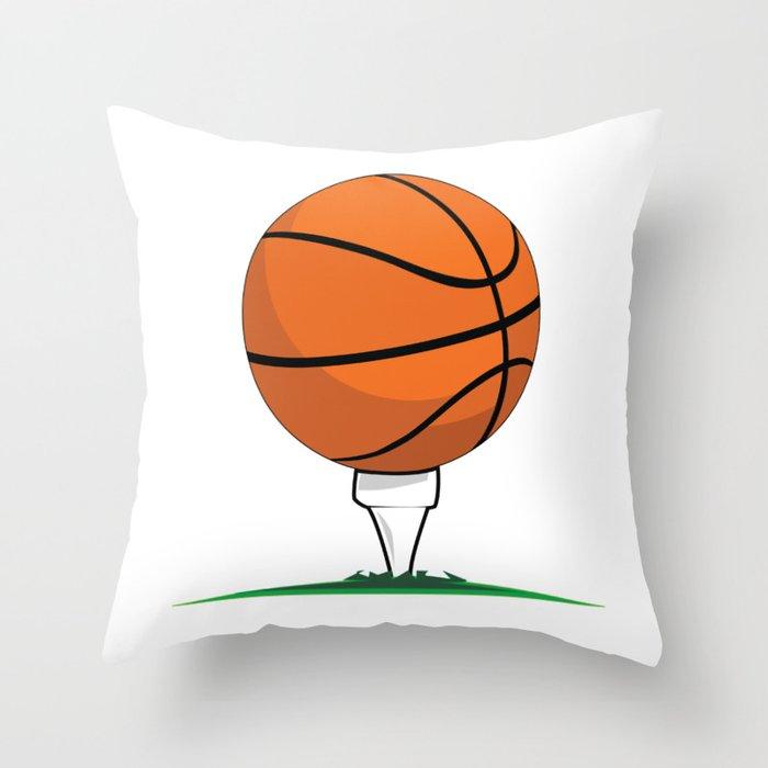 Basketball Tee Throw Pillow
