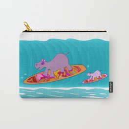 Just Like Momma - Hippos Surfing Carry-All Pouch