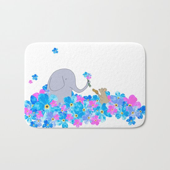 Friends In The Forget-me-nots Bath Mat