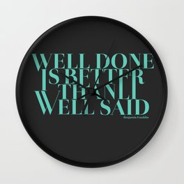 Well Done Wall Clock