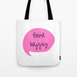 THINK HAPPY PINK BUBBLE Tote Bag