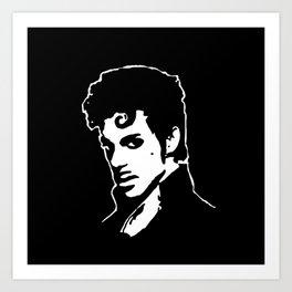 PORTRAIT OF THE MUSIC STAR Art Print