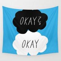 okay Wall Tapestries featuring Okay? Okay by Lola