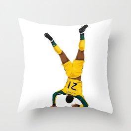 Olivier Ntcham Celebration vs Lazio Throw Pillow