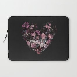 You Are The One // Floral Valentine's Heart Laptop Sleeve