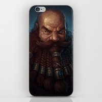 warhammer iPhone & iPod Skins featuring Angry Dwarf by Bobkehl