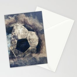 Abstract Grunge Soccer Stationery Cards