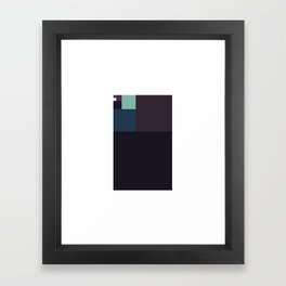 #367 Fibonacci monolith – Geometry Daily Framed Art Print