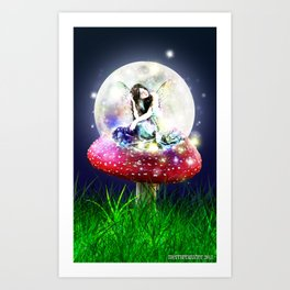 Fairy Moon Art Print