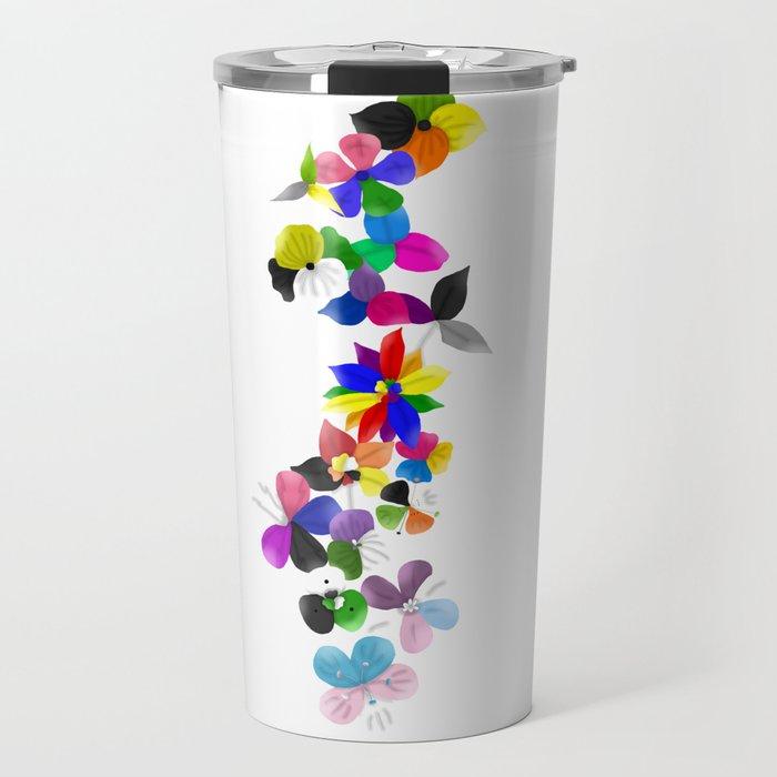Pride flowers Travel Mug